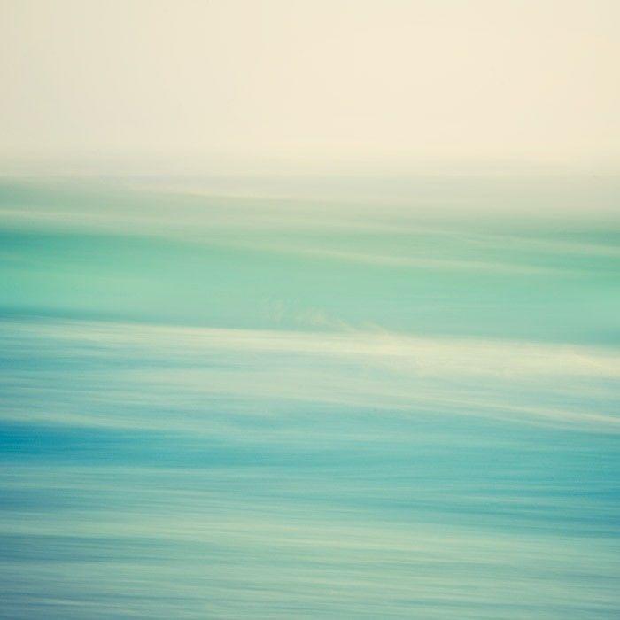 Ocean Photograph   Wave Abstract, Aqua   Swish   Minimal Seascape In Calming  Blue Green Pastel Tones.