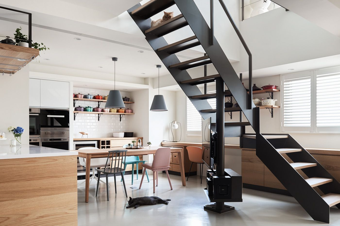 A Stylish Apartment With Cozy Spots for