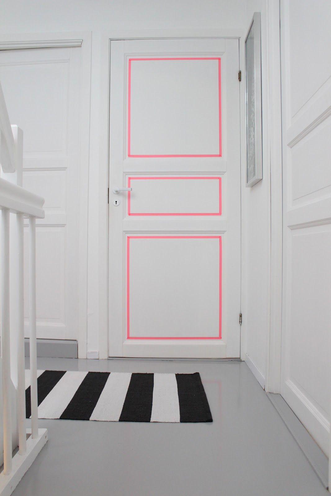 d corer une porte avec du masking tape relooker mon. Black Bedroom Furniture Sets. Home Design Ideas