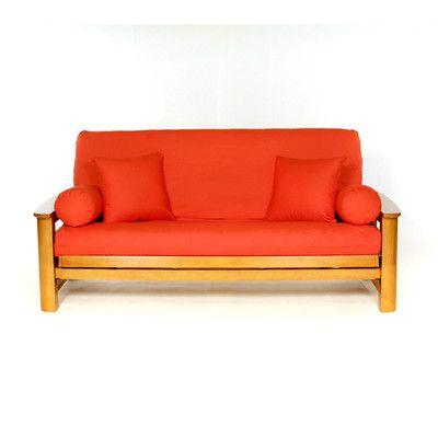 Red Barrel Studio Box Cushion Futon Slipcover Wayfair