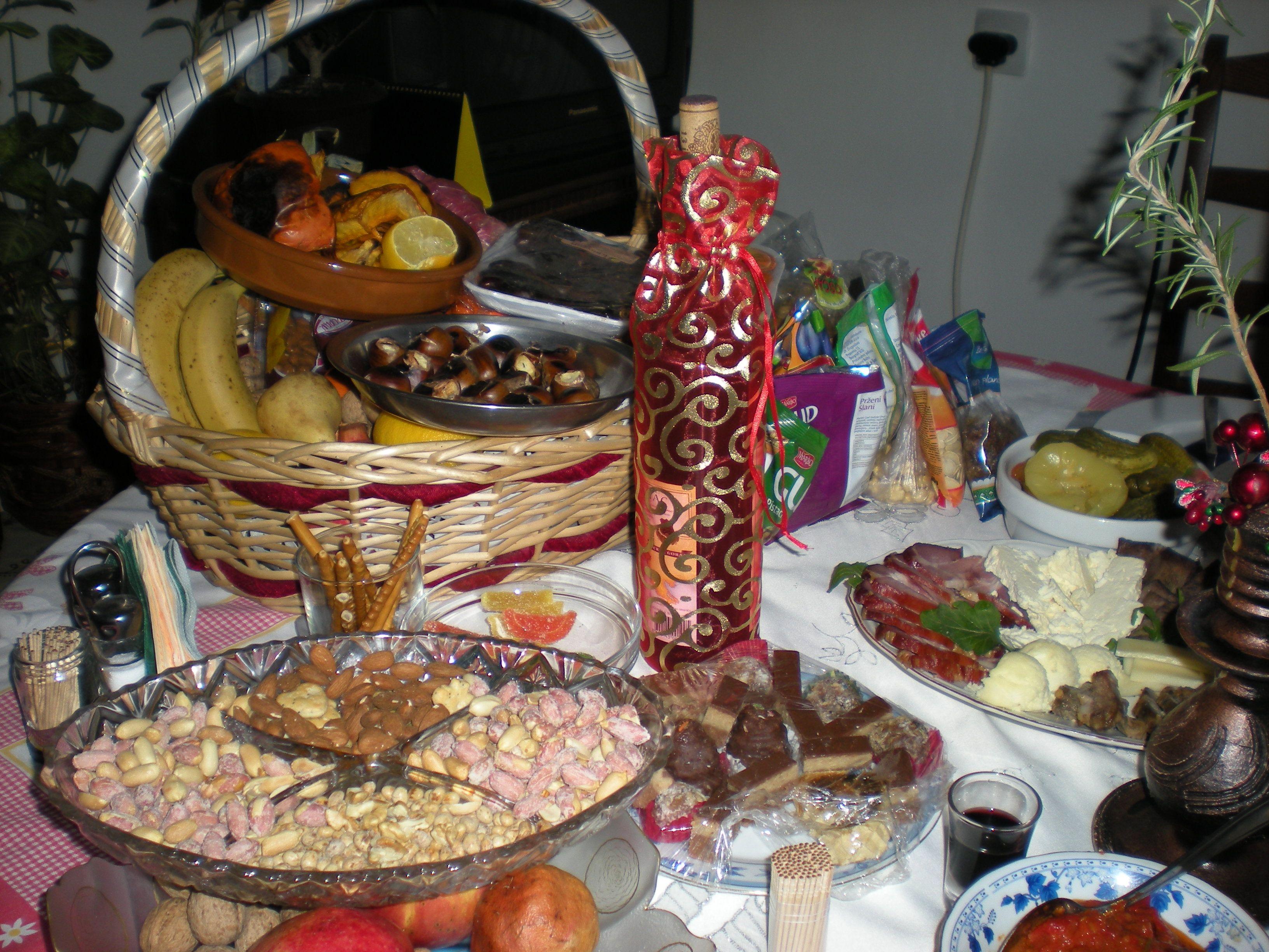 Eastern Orthodox Christmas.Food Tradition Of Serbian Orthodox Christmas Serbian