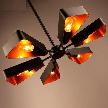 Nordic Style Loft fer amusant rétro LED pendentif luminaires pour