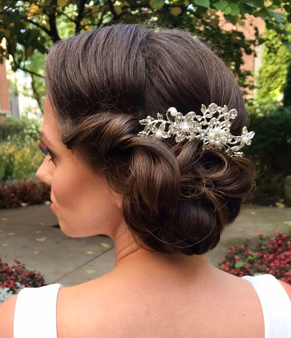 stunning vintage updo by alex from our chicago team