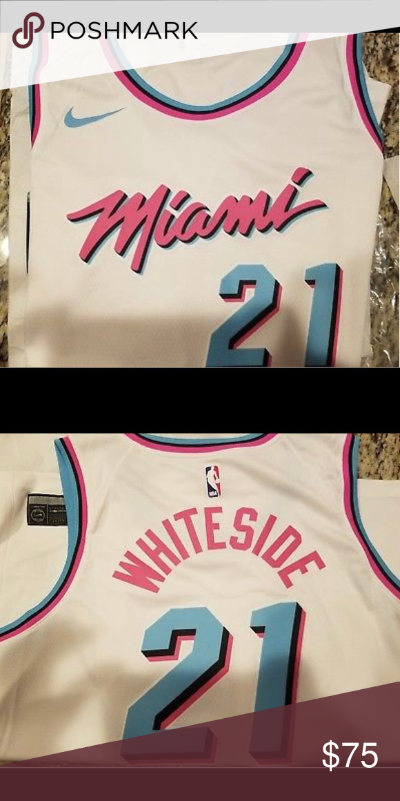 separation shoes dde69 58e8b Nike Hassan Whiteside Miami Heat Vice Jersey 🔥🔥 Brand New ...