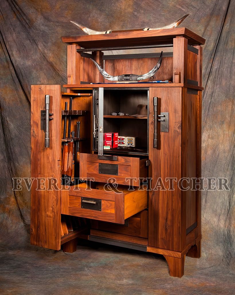 Exceptionnel Gun Safe, Gun Cabinet, Walnut, Armoire, Strong Box, Steel, Industrial,  Contemporary,