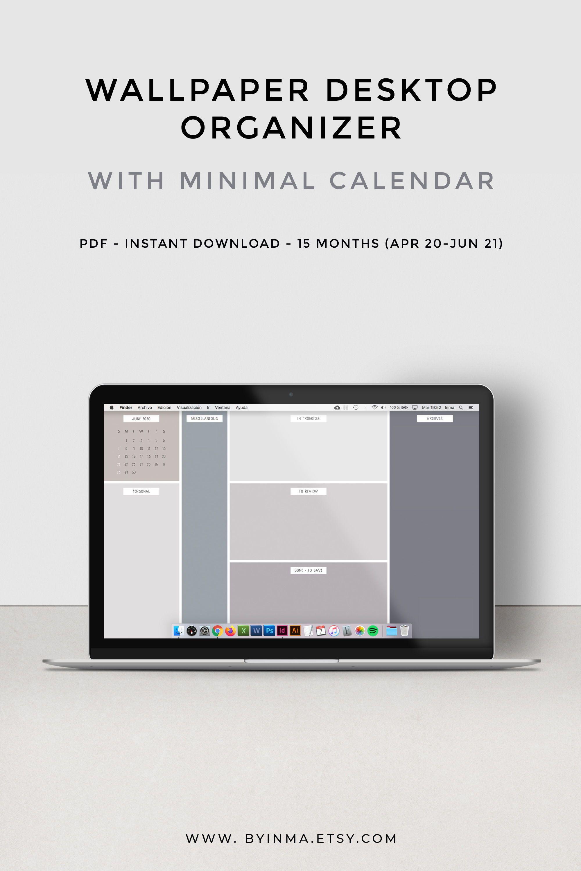 Desktop organizer wallpaper calendar 2021, Minimalist ...