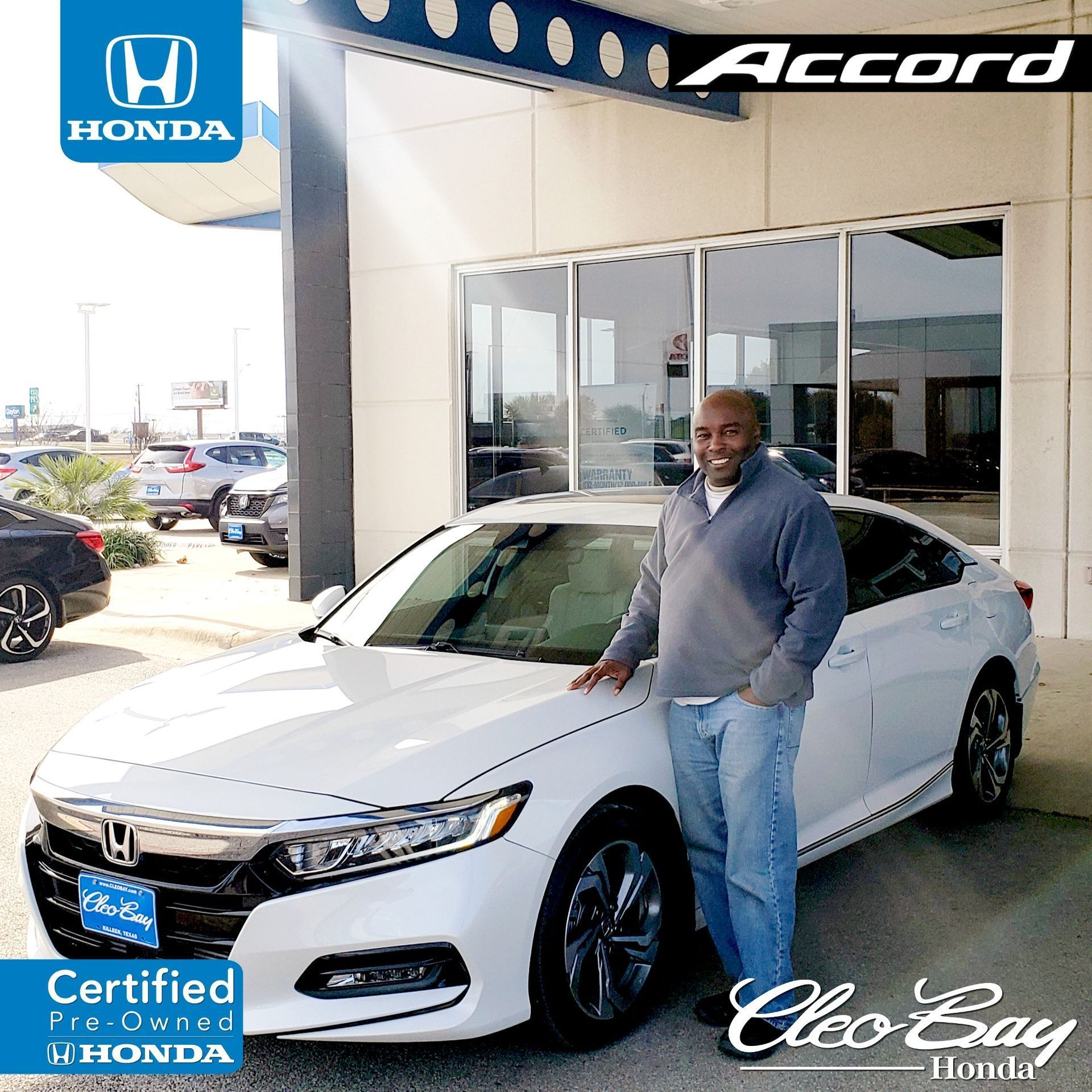Cleo Bay Honda >> Congratulations Nigel On Your Recent Purchase Of A Certified Pre