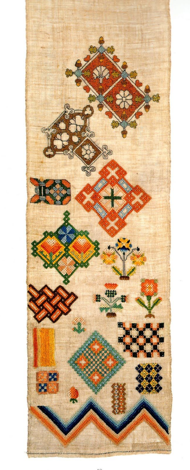 The posy tree traditional embroidered samplers iv a th century