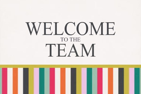 Page Title Welcome New Members Welcome To The Team Creative Business