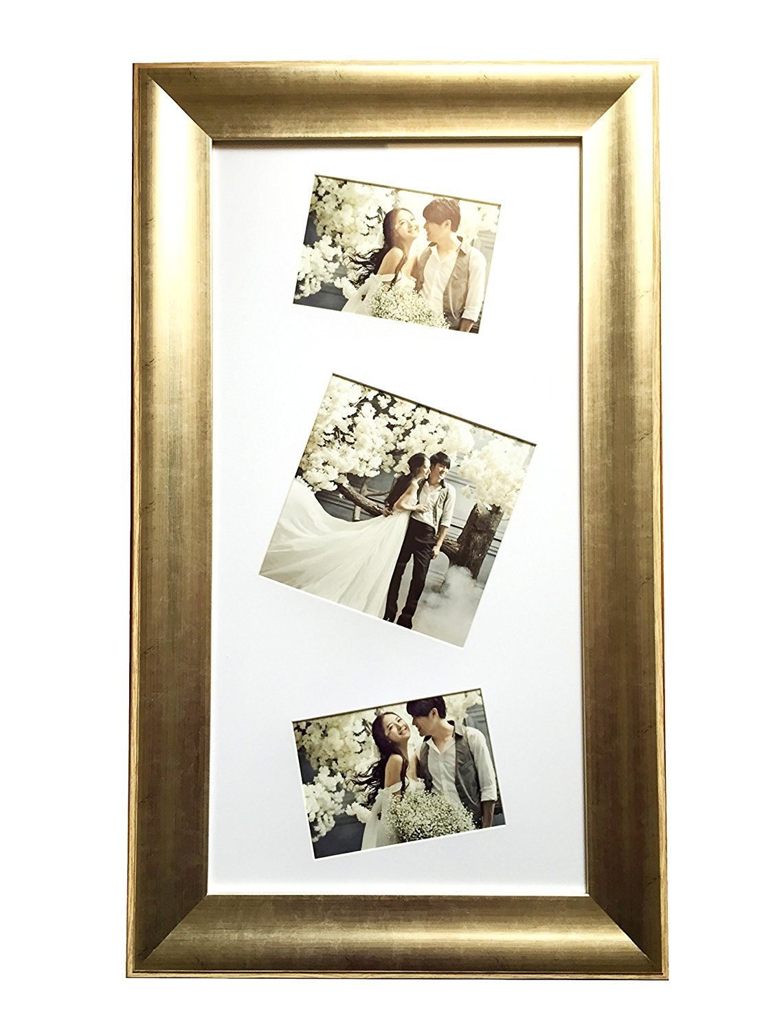 Lilian antique gold collage picture frame 14x28inch made to lilian antique gold collage picture frame 14x28inch made to displays two 5x7 inch pictures and jeuxipadfo Gallery