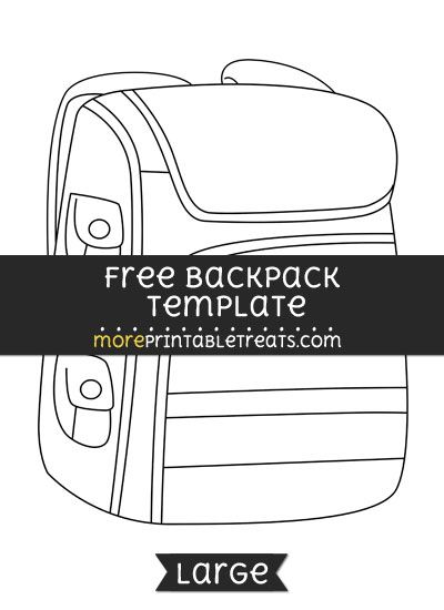 photograph about Printable Backpacks identified as No cost Backpack Template - Weighty Styles and Templates