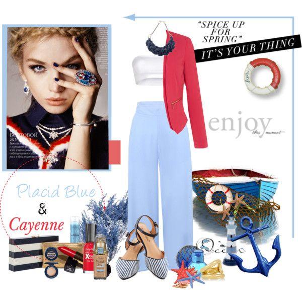 Placid Blue & Cayenne: Spring Colors 2014