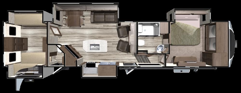 2019 Fifth Wheels Open Range Floorplans Of427bhs By Highland Ridge Rv Floor Plans Open Range Fifth Wheel