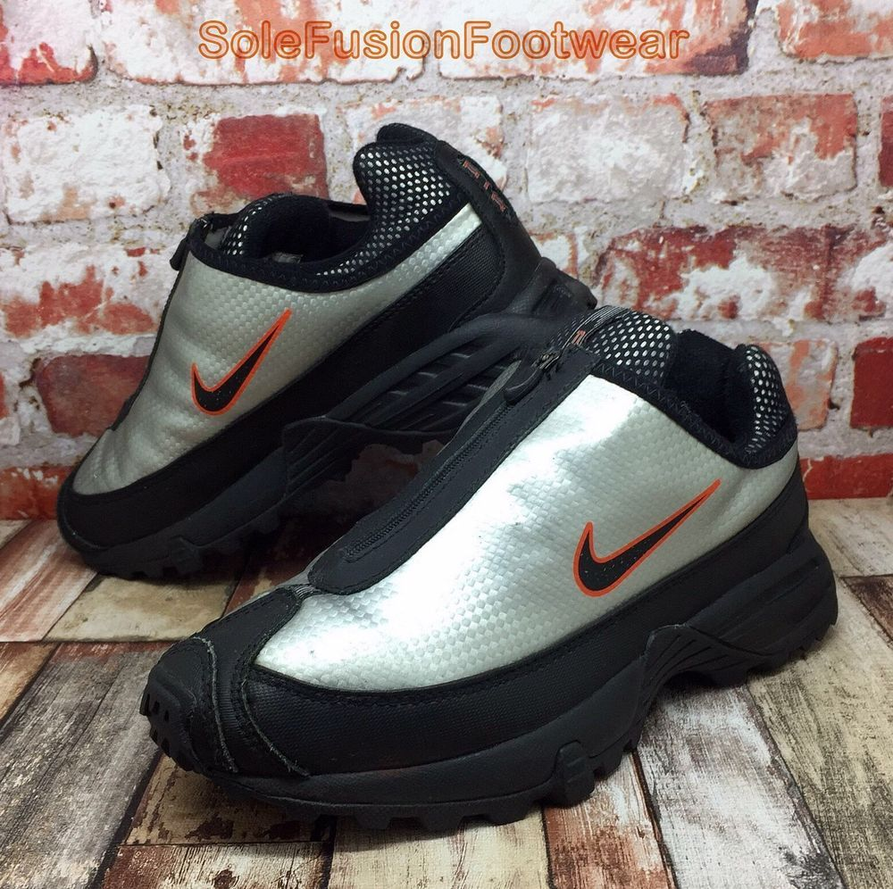 13394393eb3c1 Nike Air STORM Trainers Black/Silver sz 4 Boys Girls ACG Sneaker US 4.5  36.5 VTG | eBay