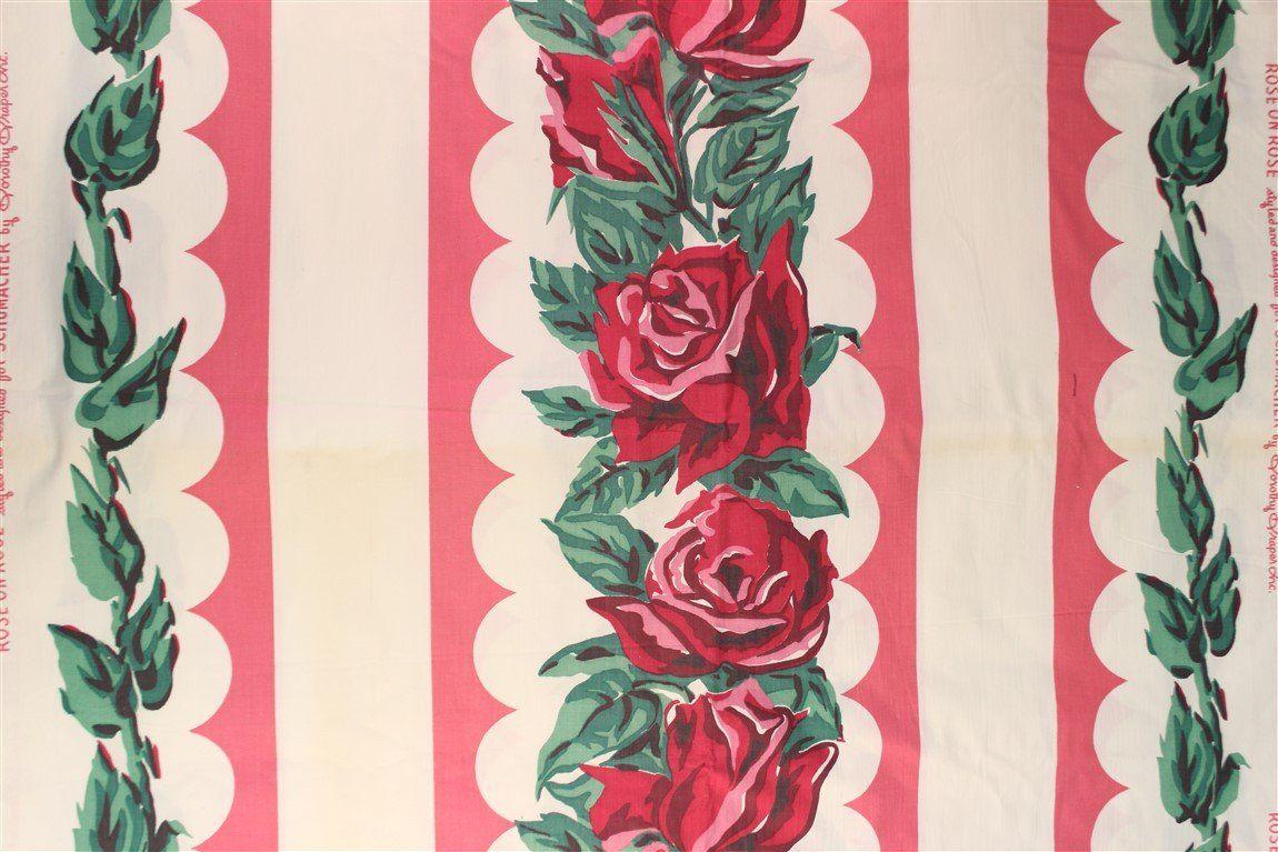 Schumacher Rose on Rose Fabric by Dorothy Draper Dorothy