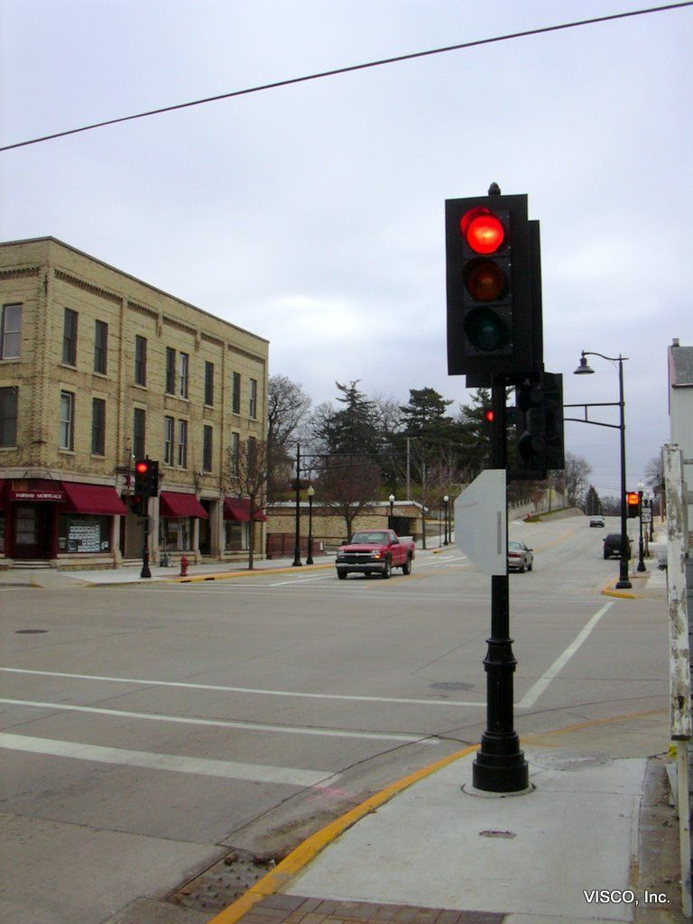 Decorative Light Poles visco, inc. decorative cast iron pole with traffic signal