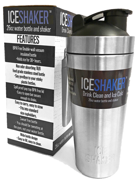 Ice Shaker The Best Water Bottle Shaker Bottle On The Market Double Wall Insulation No Sweat Keep Your Protein Shaker Bottle Shaker Bottle Protein Shaker