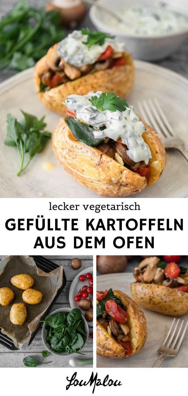 Lecker vegetarisch: Gefüllte Kartoffeln aus dem Ofen – LouMalou.ch #stuffedburgerrecipes