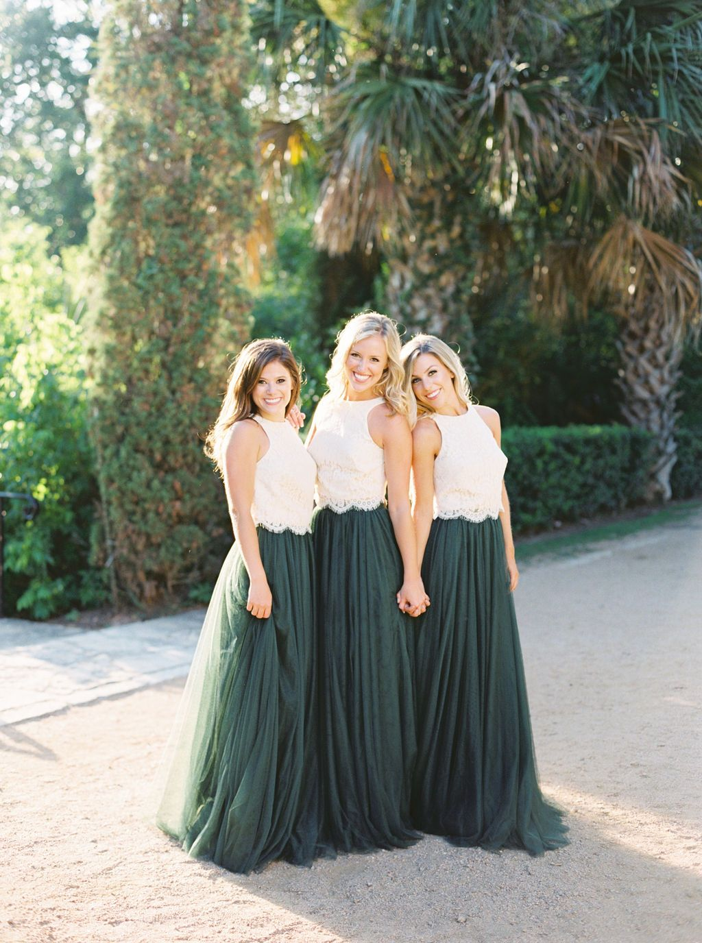 45203af844 Our bridesmaid tops paired with our Skylar tulle skirt in shades dusty blue  go perfectly with just about any wedding theme or season! Order a sample  box to ...