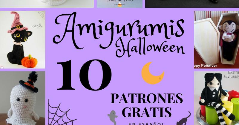 Amigurumi Gato Negro : Amigurumi patron gratis español halloween fantasma amigurumi araña
