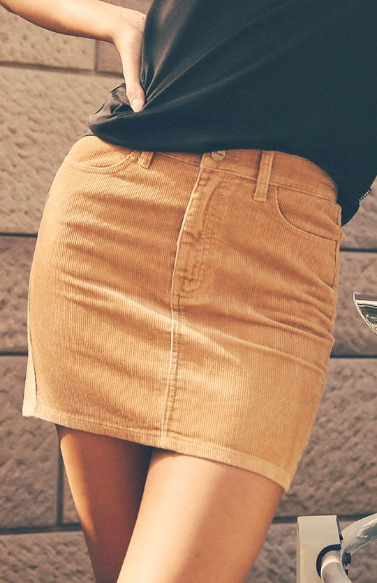 Afends | Chevy Denim Skirt - Tan Cord | Back In Stock | Peppermayo ...