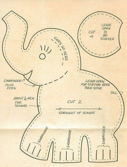 Vintage Elephant Pinafore Pattern sizes 2 6 4