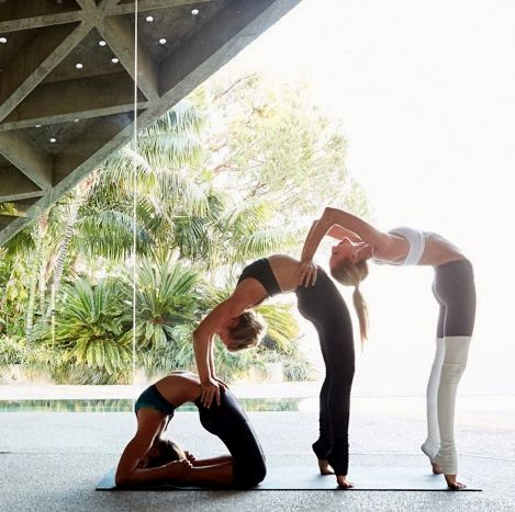 yoga poses for 3 in 2020  partner yoga poses yoga
