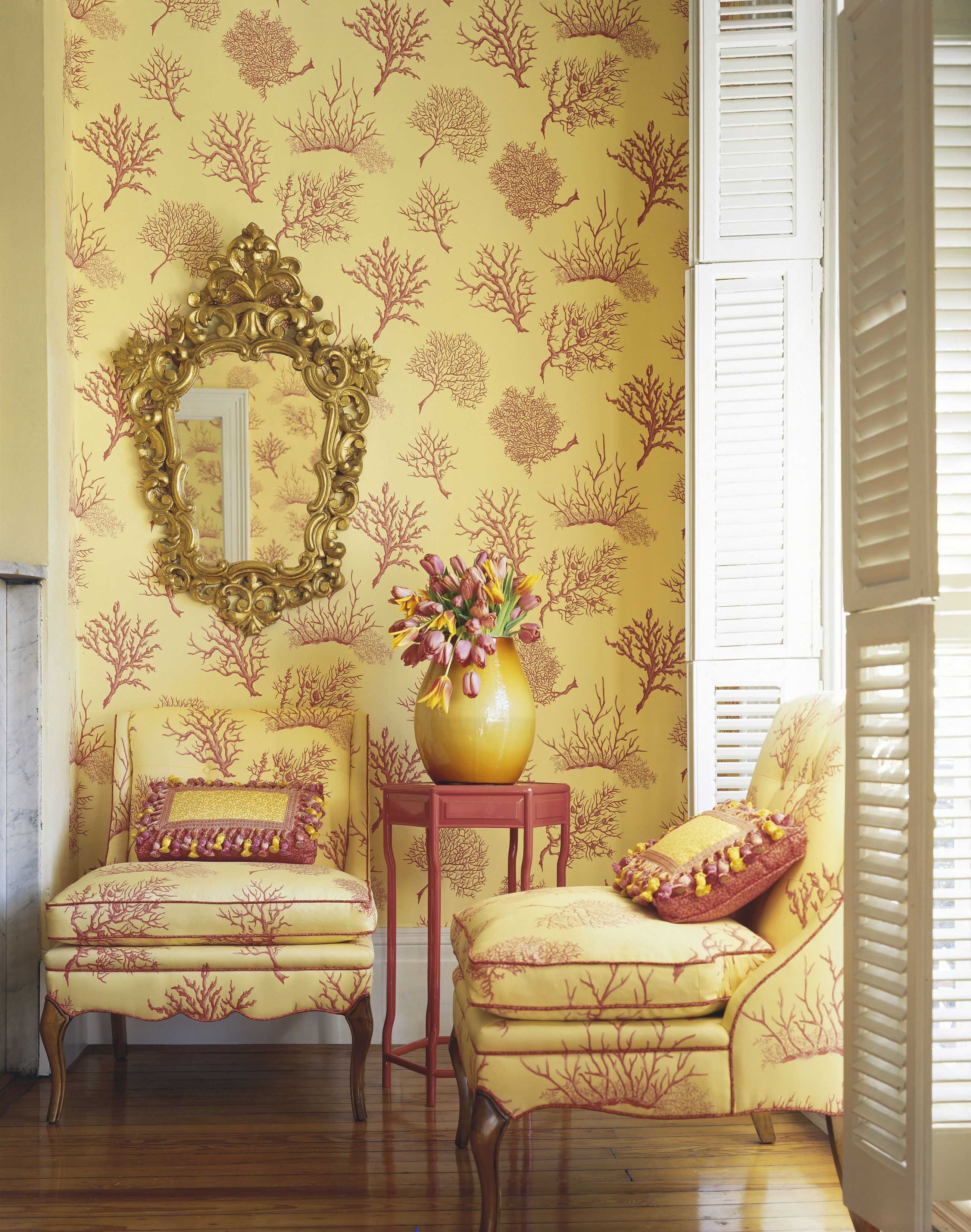 Coral Gables Wallpaper And Fabric From #Laguna #Thibaut