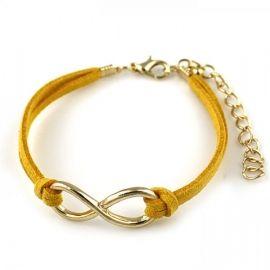 Infinity armband geel #ohsohip