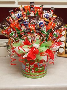 Candy Bouquets Diy Christmas Google Search