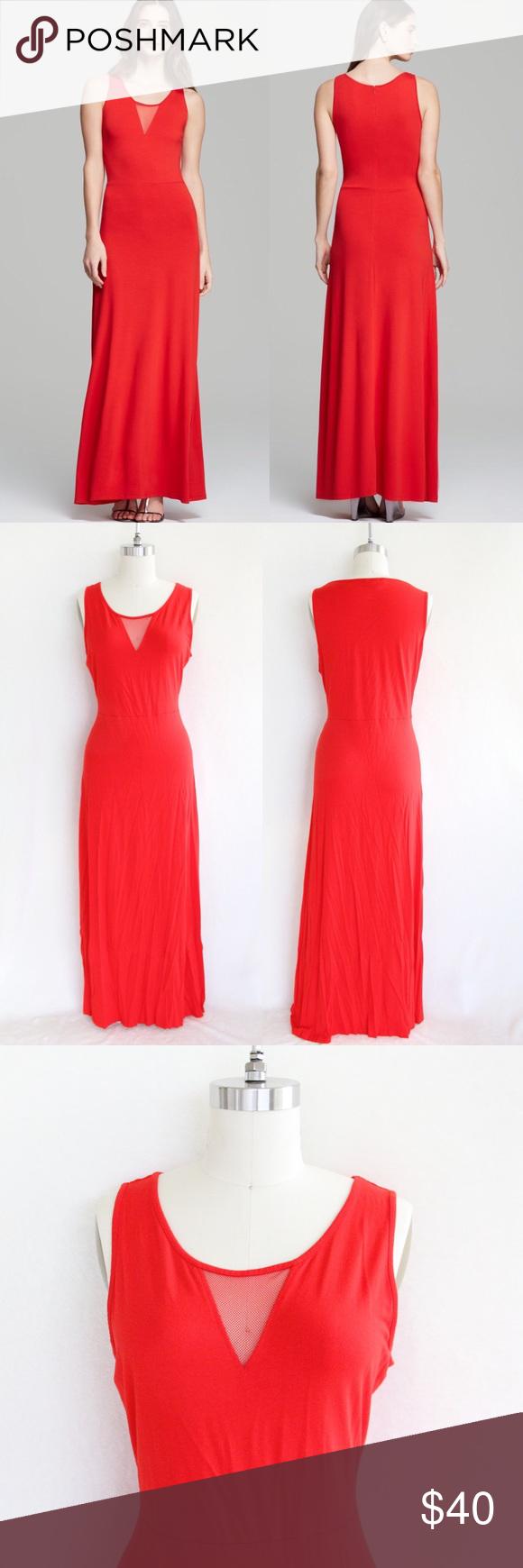 Vince Camuto Red Orange Sleeveless Maxi Dress Sleeveless Maxi Dress Dresses Maxi Dress [ 1740 x 580 Pixel ]