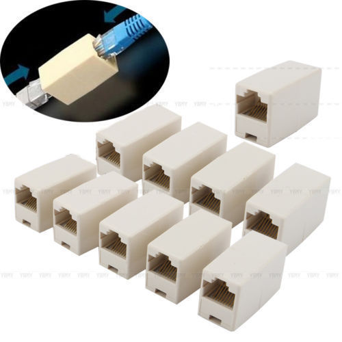 1 Aud 10 20 Pcs Rj45 Rj11 Cat5e Cat5 Cable Network Ethernet Joiner Coupler Connector G