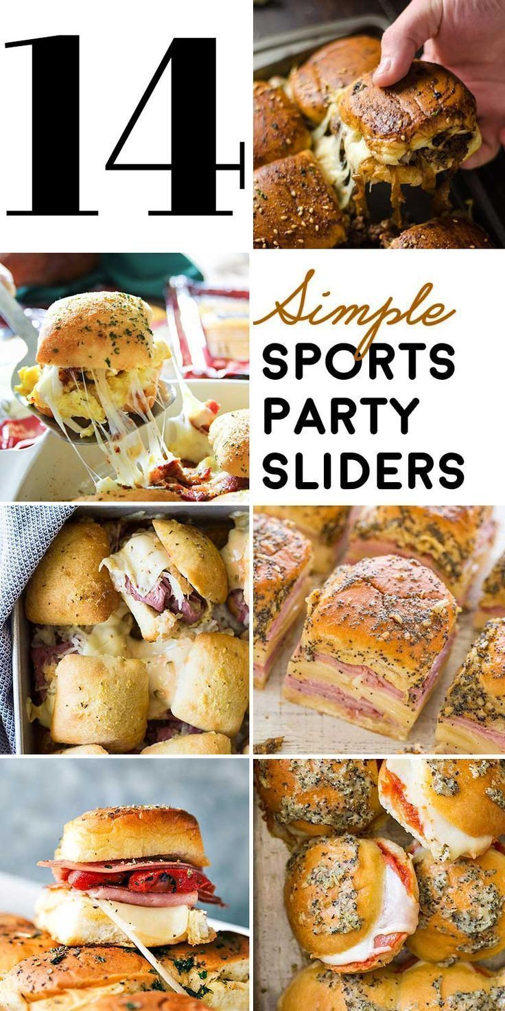 14 Simple Sports Party Sliders #footballpartyfood