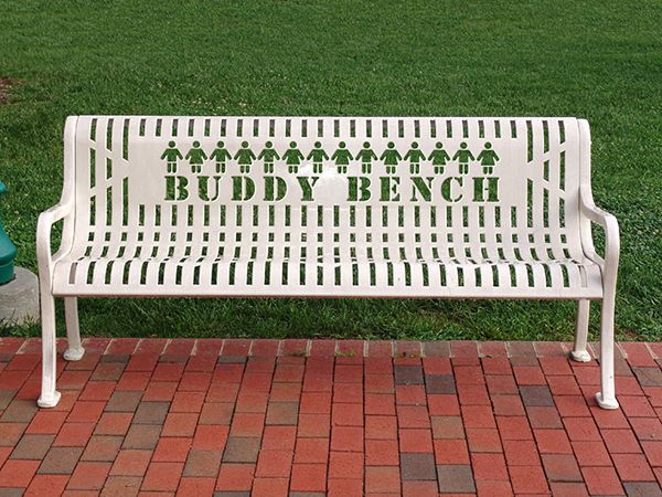 Buddy Bench Custom Bench From Leisure Craft Your Name Here Custom Benches Outdoor Furniture Outdoor Decor