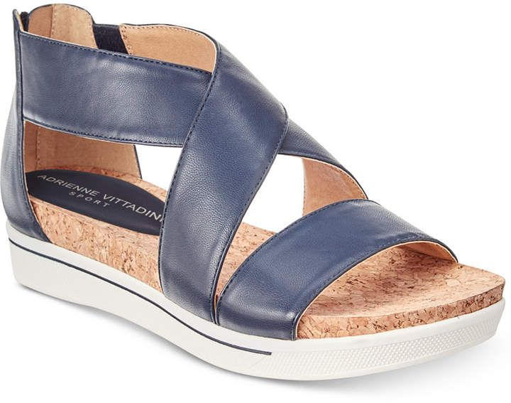 9d9d7c47f27e Adrienne Vittadini Claud Sport Flatform Sandals Women s Shoes. Crisscross  ankle straps and a flatform design make Adrienne Vittadini s Claud sandals  from ...