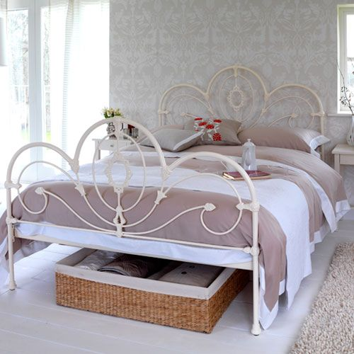 Pallio Bed White Metal Bed White Metal Bed Frame Iron Bed