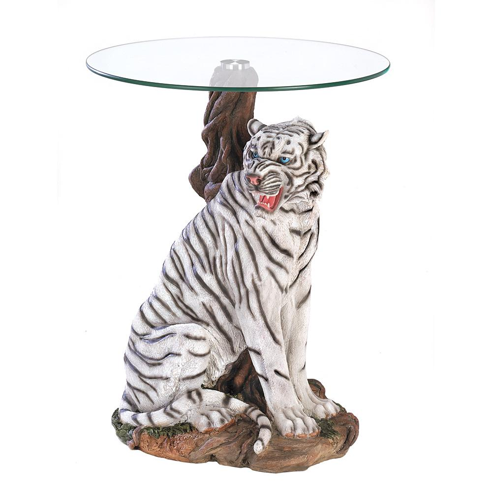 White Tiger Accent Table Glass Top Accent Table Rustic Accent Table Glass Accent Tables [ 1000 x 1000 Pixel ]
