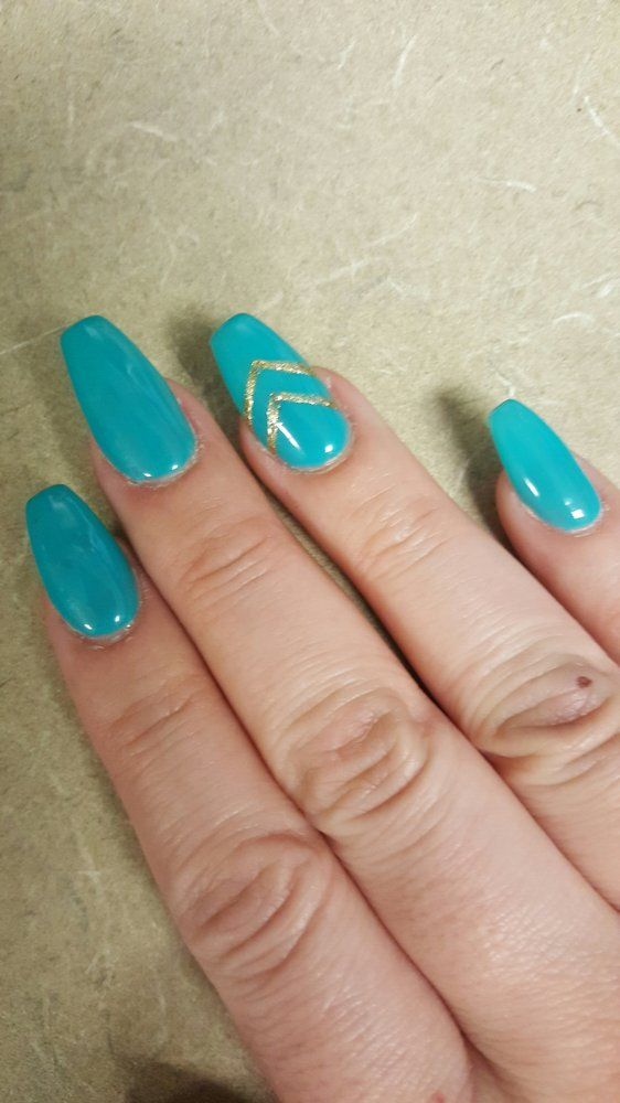 Lotus Nails & Spa - Elk Grove, CA, United States. Coffin shape with ...