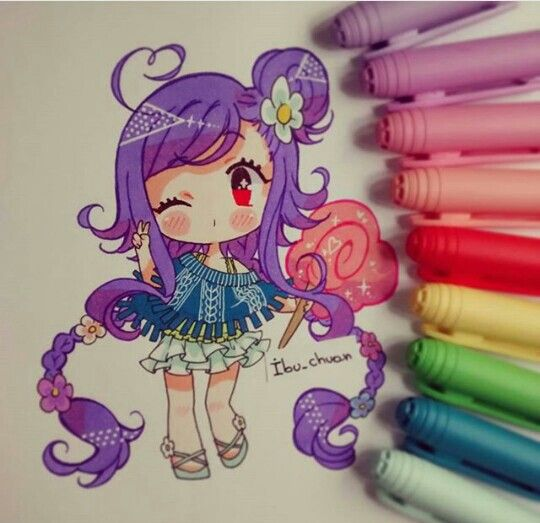 By: [ Ibu_Chuan ] - The hair is usually my favorite part (*´˘`*) I love the way she draws it. ✿nix