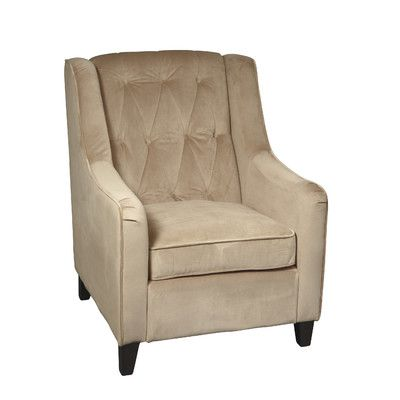 Ave Six Curves Tufted Arm Chair & Reviews   Wayfair