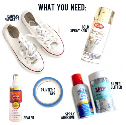 9d87c1c38e74 How to Glitter Up Your Old Canvas Sneakers