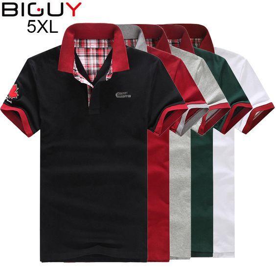 Plus Size 3xl 4xl 5xl Men Polo Shirt Short Sleeve Fashion Cheap Mens Polos  2017 Casual White Black Male Polo Shirts 5 Colors 360 6781e4119