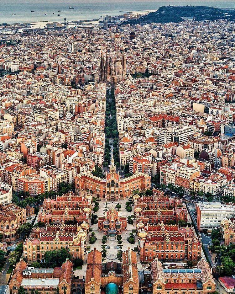 Barcelona City: Sky View ~ Barcelona, Spain