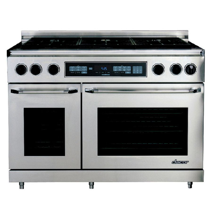 Shop Dacor Discovery 48 In Deep Recessed 6 Burner Oven Capacity