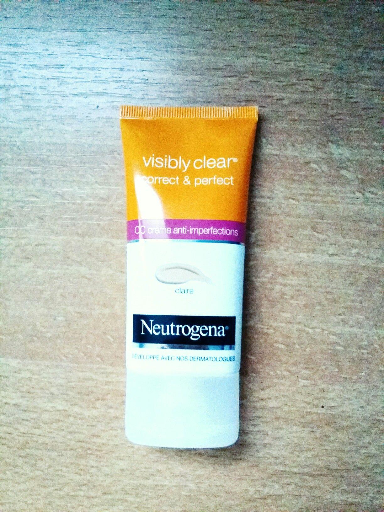 CC crème/gamme neutrogena/teinte claire/agréable à appliquer