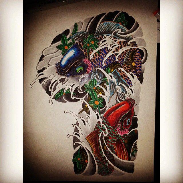 "52 lượt thích, 6 bình luận - Nicckuhori Family 日久彫一家 (@edmund_seah) trên Instagram: ""#japaneseart #japanesetattoos #orientaltattoo #traditionaltattoo #irezumi #ink #koi #wavetattoo…"""