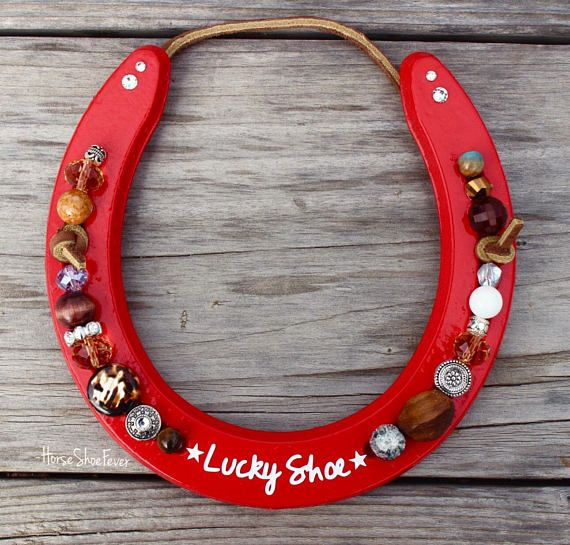 Lucky Horseshoe Horse Gifts Western Country Rustic Modern
