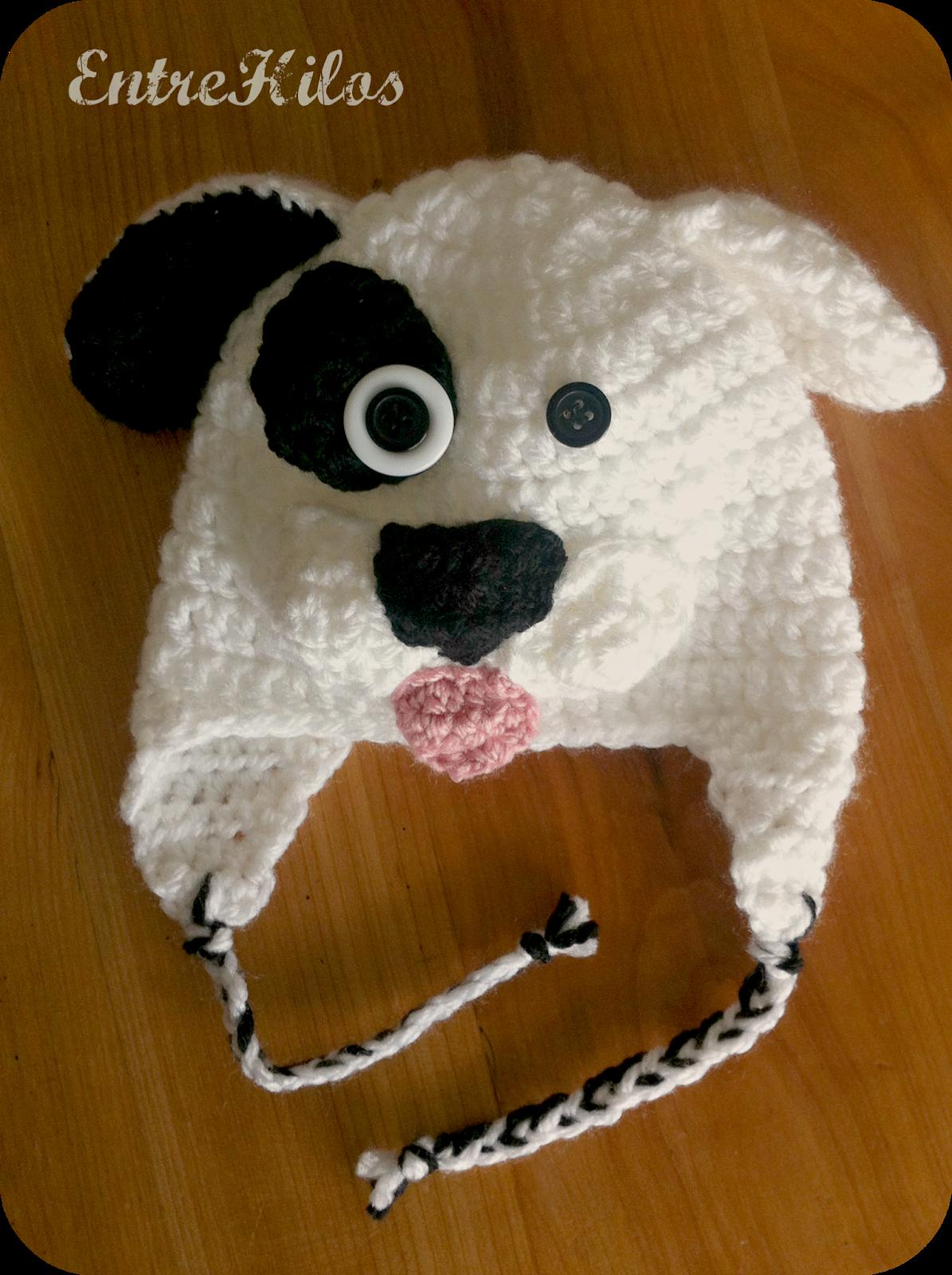 Como hacer un gorro perrito a crochet (patron para talla 6-12 meses ... ab934cfddf5
