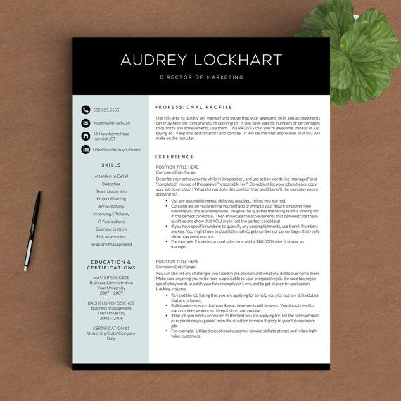 Pages Templates Resume Professional Resume Template For Word & Pages  1 2 And 3 Page .