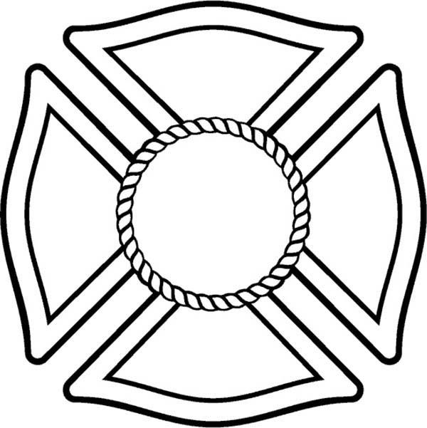 maltese cross coloring pages | fire safty | pinterest | maltese cross - Firefighter Badges Coloring Pages
